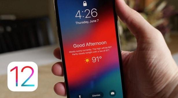 iOS 12 Kilit Ekranına Karşılama ve Hava Durumu Nasıl Eklenir?